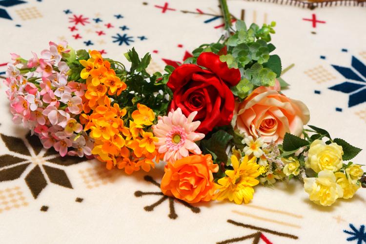 造花アレンジ用に大阪サンセイで造花を購入