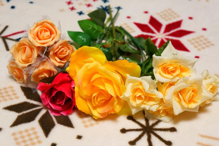 造花アレンジ用にダイソーで造花を購入