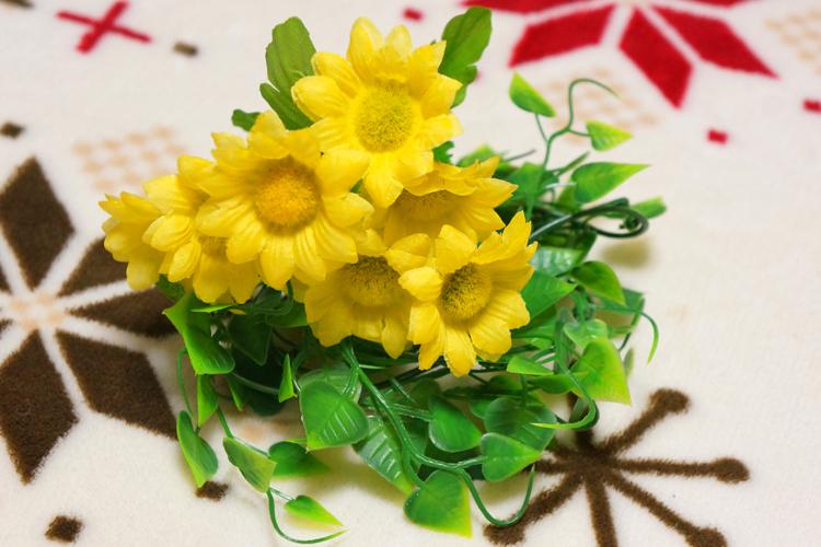 造花アレンジ用にセリアで造花を購入